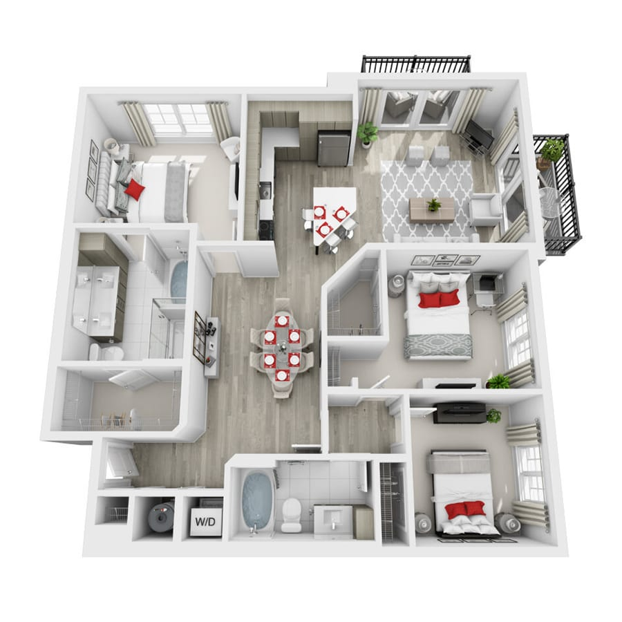 Rendering of Whimsy floor plan